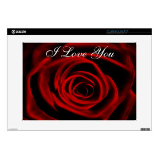 Beautiful red rose laptop decals