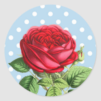 Beautiful red rose stickers