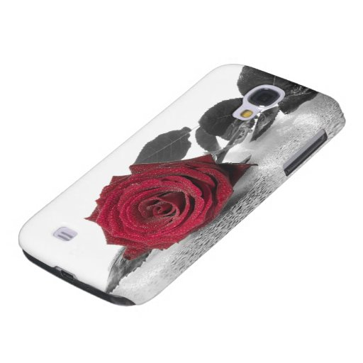 Beautiful Red rose with black background Galaxy S4 Cover