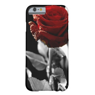 Beautiful Red Rose with Black & White background iPhone 6 Case