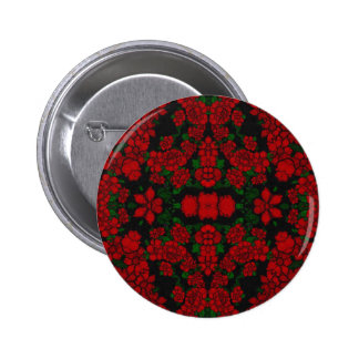 Beautiful Red Roses Abstract Pinback Button