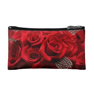 Beautiful Red Roses Cosmetic Bag