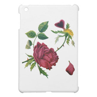 Beautiful Red Roses Done in Crewel Embroidery iPad Mini Cover