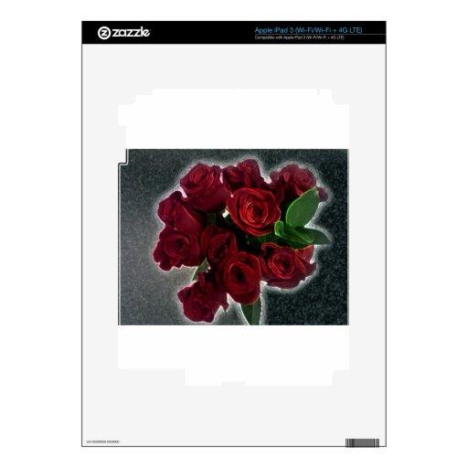 BEAUTIFUL RED ROSES iPad 3 SKIN