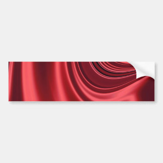 Beautiful Red Satin Bumper Sticker
