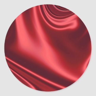 Beautiful Red Satin Classic Round Sticker
