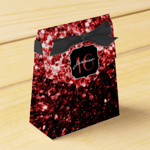 Beautiful Red sparkles  favor box