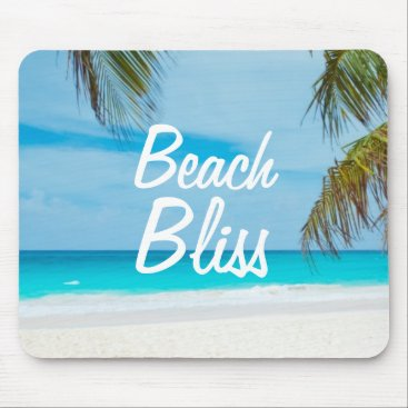 Beach Themed Beautiful Relaxing Beach Bliss Mouse Pad