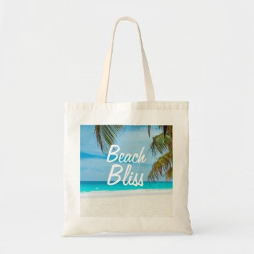 Beach Themed Beautiful Relaxing Beach Bliss Tote Bag