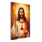 Beautiful religious Sacred Heart of Jesus image Canvas Print