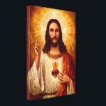 "Beautiful religious Sacred Heart of Jesus image Canvas Print<br><div class=""desc"">Beautiful religious Sacred Heart of Jesus image print</div>"