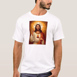 Beautiful religious Sacred Heart of Jesus image T-Shirt