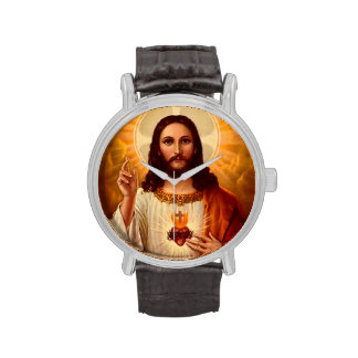 Beautiful religious Sacred Heart of Jesus image Watches