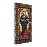 Beautiful Religious Sacred Heart of Virgin Mary Gallery Wrap Canvas