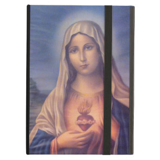 Beautiful Religious Sacred Heart of Virgin Mary Case For iPad Air