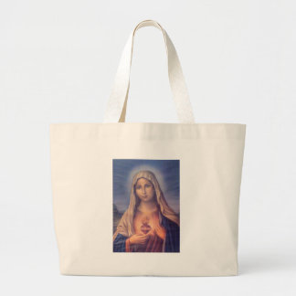 Beautiful Religious Sacred Heart of Virgin Mary Large Tote Bag