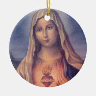 Beautiful Religious Sacred Heart of Virgin Mary Christmas Tree Ornaments