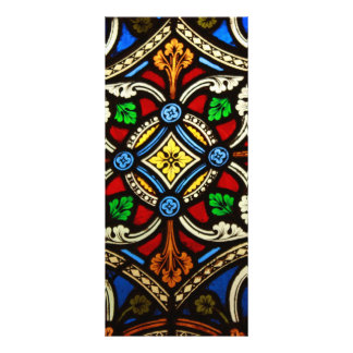 Beautiful Religious Stained Glass Rack Card