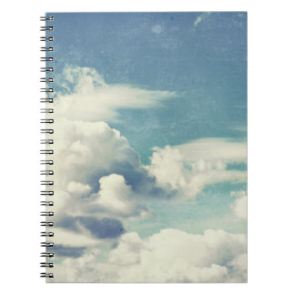 Beautiful Retro Cloudy Day Cloud Photograph Notebook