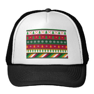 Beautiful retro colorful christmas pattern trucker hat