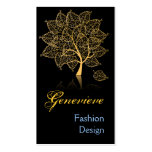 Beautiful Retro Gold Tree Double-Sided Standard Business Cards (Pack Of 100)