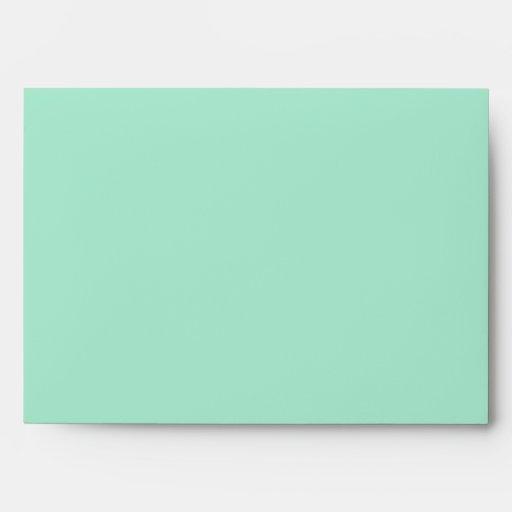 Beautiful Retro Mint Green Envelopes
