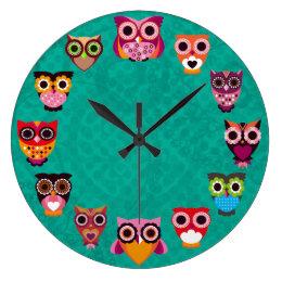 Beautiful Retro Owl Clock