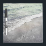 """Beautiful Retro Wave on Lake Michigan Beach Dry-Erase Board<br><div class=""""desc"""">A beautiful gentle wave rolls onto the sand. Personalize this lovely beach theme dry erase board with your name or message.</div>"""