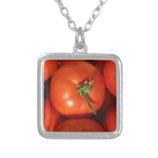 Beautiful Ripe Homegrown Tomatoes Silver Plated Necklace