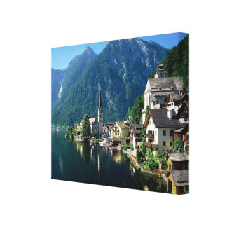 Beautiful Riverfront  Reflection Austria Single Canvas Print