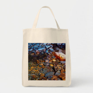 Beautiful Rocks in Water Creek Photo Grocery Tote Bag