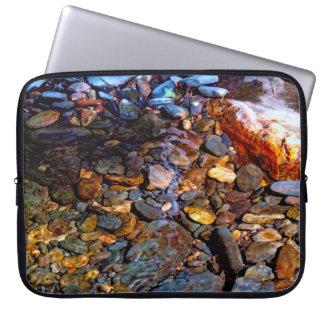 Beautiful Rocks in Water Creek Photo Computer Sleeves