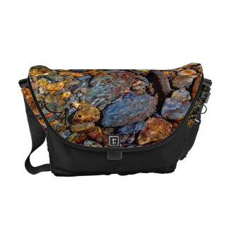 Beautiful Rocks in Water Creek Photo Messenger Bags