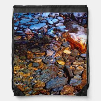 Beautiful Rocks in Water Creek Photo Cinch Bags