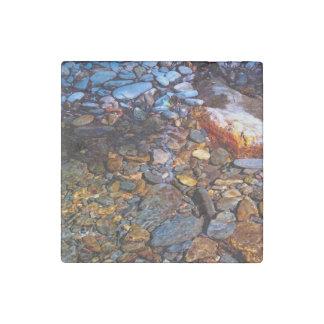 Beautiful Rocks in Water Creek Photo Stone Magnet