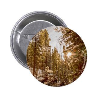 Beautiful Rocky Mountain Winter Day Button