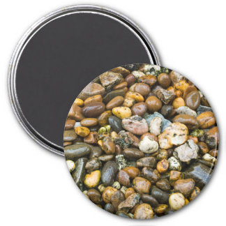 Beautiful Rocky Pebble Texture 3 Inch Round Magnet