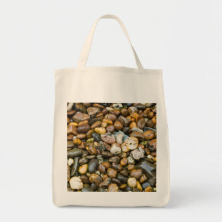 Beautiful Rocky Pebble Texture Grocery Tote Bag