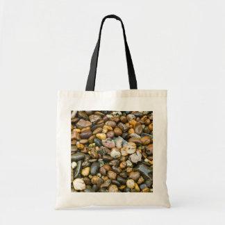 Beautiful Rocky Pebble Texture Budget Tote Bag