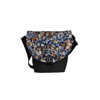 Beautiful Rocky Pebble Texture Messenger Bag