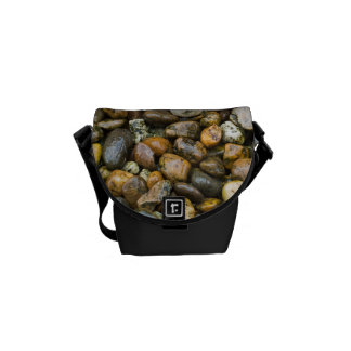 Beautiful Rocky Pebble Texture Courier Bags
