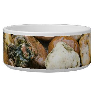 Beautiful Rocky Pebble Texture Dog Bowls