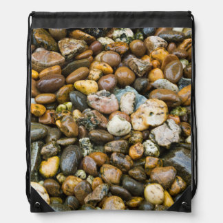 Beautiful Rocky Pebble Texture Cinch Bags