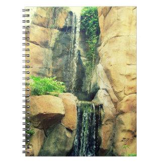 Beautiful Rocky Waterfall Notebook