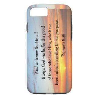 BEAUTIFUL ROMANS 8:28 SUNRISE PHOTO iPhone 7 CASE