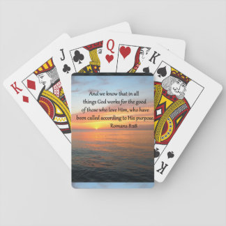 BEAUTIFUL ROMANS 8:28 SUNRISE PHOTO PLAYING CARDS