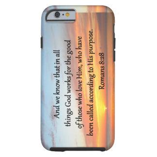 BEAUTIFUL ROMANS 8:28 SUNRISE PHOTO TOUGH iPhone 6 CASE