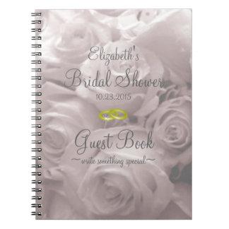 Beautiful Romantic Roses Bridal Shower Guest Book
