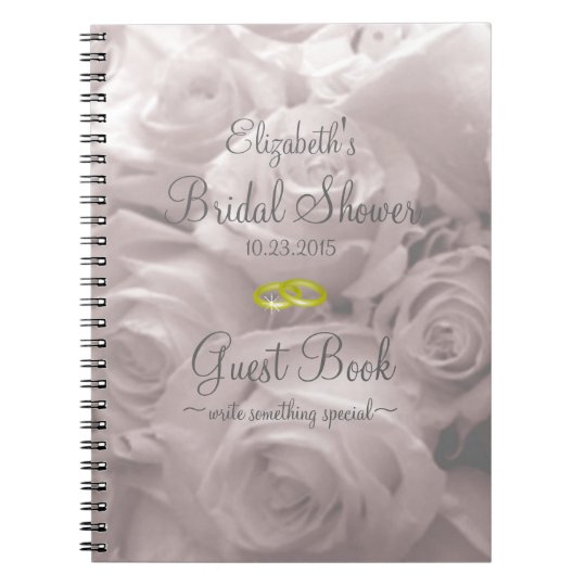 e41769986908 Beautiful Romantic Roses Bridal Shower Guest Book