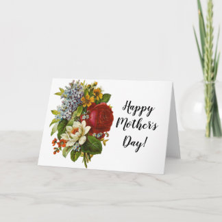 Beautiful Romantic Summer Bouquet with Red Rose Card